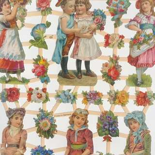 👼 VINTAGE CHILDREN STICKERS SCRAP PAPER