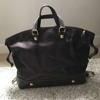Dolce & Gabbana brown leather tote travel bag for men & women
