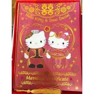 正版Hello Kitty結婚證書套👰🏻❤️🤵🏻