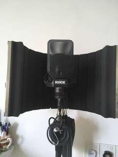 RØDE NT-1 with On-Stage Stand and LD Systems RF1 Microphone Screen