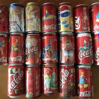 絶版可樂罐 三十個