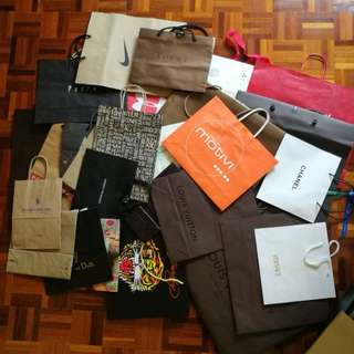 Assorted paper bags