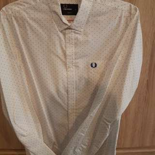 Fred Perry White polka dot shirt