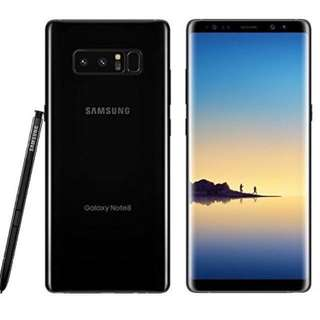 Samsung Galaxy Note 8 Midnight Black 128GB with FREE 10,000 mah SIDO Power Bank, Screen Protector, and Fortress Warranty (RRP $7598)