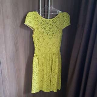 Mini Dress Lime Green