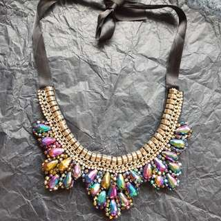 Holographic Statement Necklace