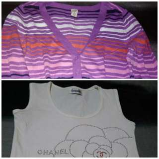 🛍️Chanel Sleeveless Top  and Old Navy Sweaty 👝