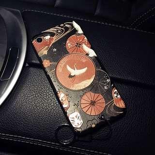 立體浮雕日式電話套 手機殼。iPhone