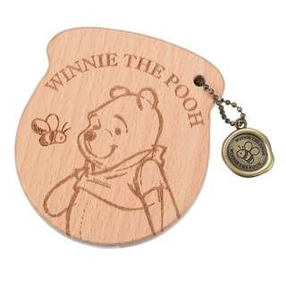 日本 Disney Store 直送 Winnie the Pooh 小熊維尼木鏡連索袋