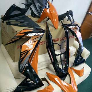 COVERSET HONDA RS150 ORANGE