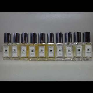 Jo Malone Colognes - 10 bottles