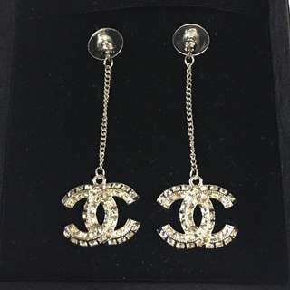 Authentic Chanel Dazzling Earrings