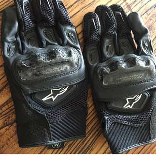 Motorcycle Gloves Alpinestars SMX-2 AC Size medium.