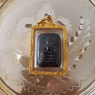 Pure Leklai Somdej in pure gold casing from Wat Thamfad in Kanchanaburi, Thailand.