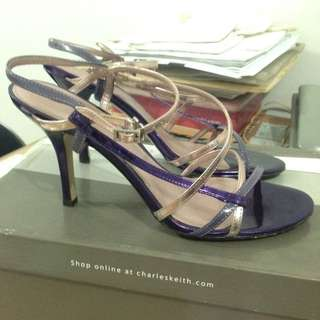 Charles and keith violet strappy heels