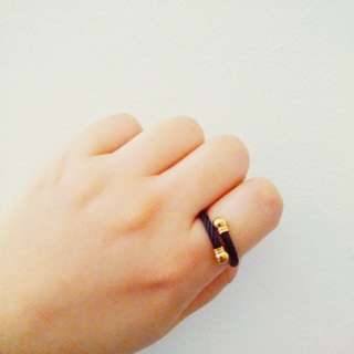 Black & Gold Rope Ring
