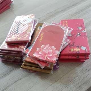 Ang pao red packet craft material, various