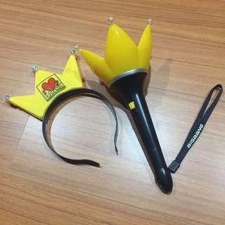 出清BIGBANG 皇冠手燈送髮圈