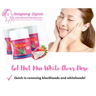 Gel Hut Mun White Clear Nose Gel