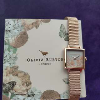 Olivia Burton Ladies Lace Detail Watch