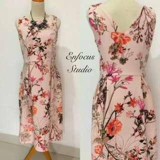 Baru Dress Enfocus Floral.peach