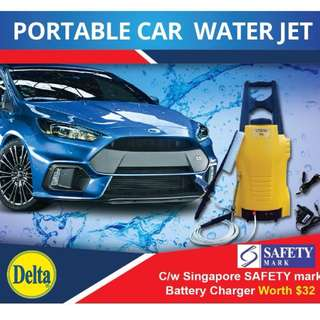 Delta Portable Car Wash. Car Water Jet. Car Wash Kit. Battery Operated