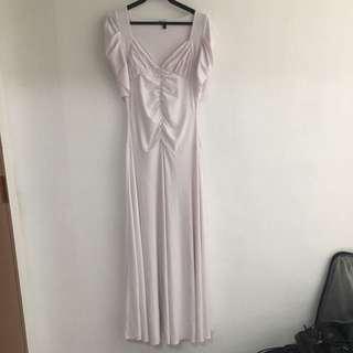 White gown maxi dress