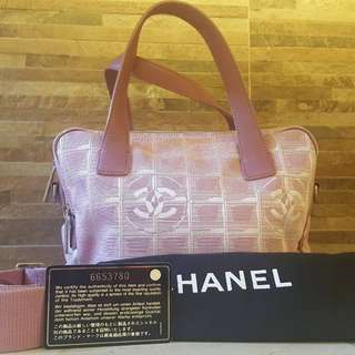 Authentic used Chanel cross bag with hologram intact and card dustbag