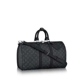 AUTHENTIC Louis Vuitton Keepall 45 Bandouliere Monogram Eclipse