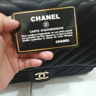 Chanel chevron miror full embos 30cm