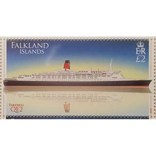 2008 Falkland Islands Stamp - QE2 (Single Value in Whole Sheet)