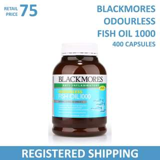 Blackmores Odourless Fish Oil 1000MG 400 Caps