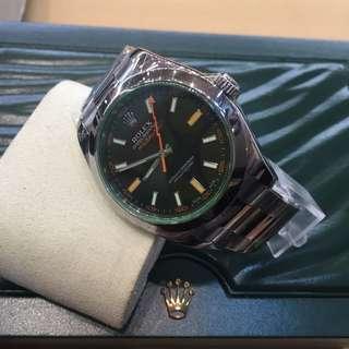 Rolex 綠玻璃