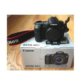 Canon 60D body complete box set