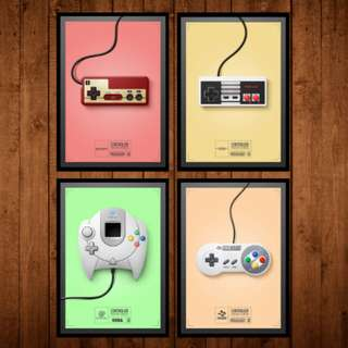 Console Controller Vol.2 Wall Frame Poster