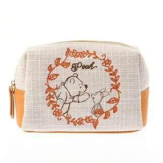 日本 Disney Store 直送 Winnie the Pooh 小熊維尼自然系列筆袋/化妝袋/儲物袋