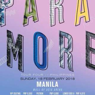 BUYING: 2 Paramore Tickets