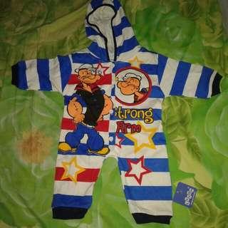 #ImlekHoki sleepsuit popeye