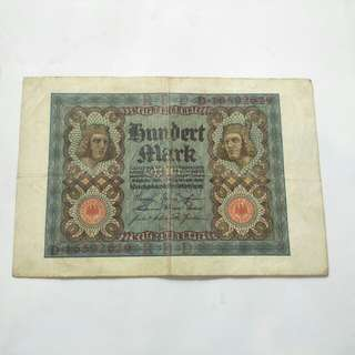 German old banknote