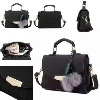 Tas fashion import handbag from batam1338 black