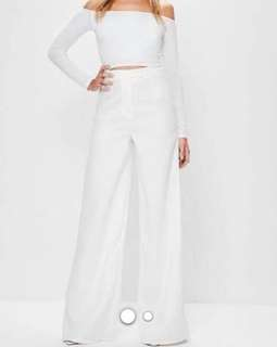 White high waisted tall pants size au10