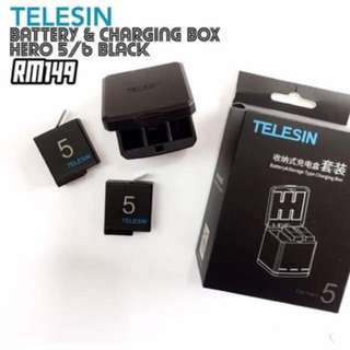 TELESIN Battery Set GoPro Hero 5/6 Black