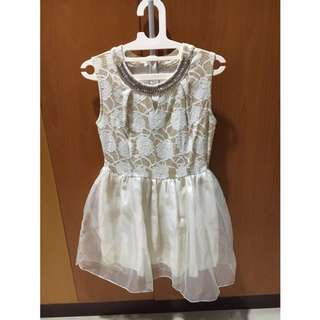 White-Gold Party Dress