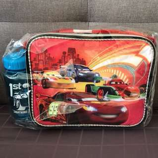 Kid's bag with water bottle - Cars