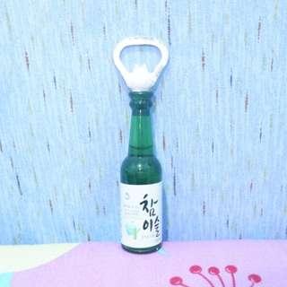 Soju Beer Bottle Opener and Ref Magnet Korea