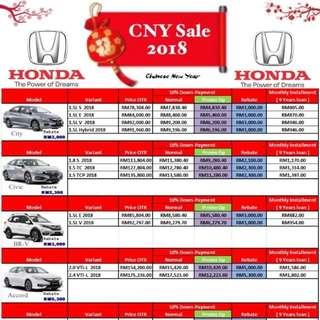 Honda  💥💥🔥CNY SALE !!!🔥💥💥