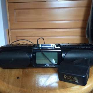 JVC 擴音喇叭(可插舊代iPod+聽收音機)