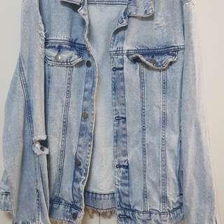Zara Denim Jacket Trafaluc small
