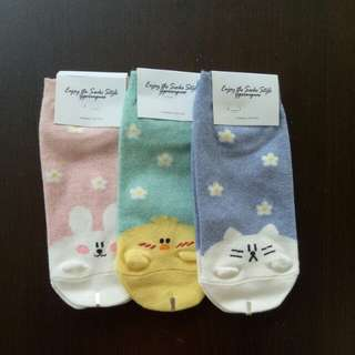 Line Character Sock (3 for $10.00)