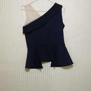one shoulder mesh